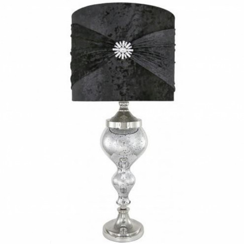 Antique French Style Silver Mercury Glass Table Lamp
