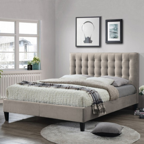 Becky Champagne Fabric Bed