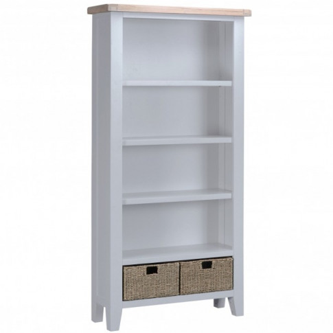 Bisbee Grey Large Bookcase