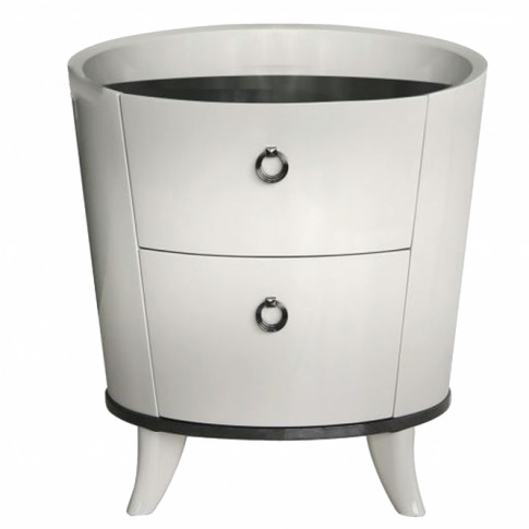Conway Light Grey Bedside Table