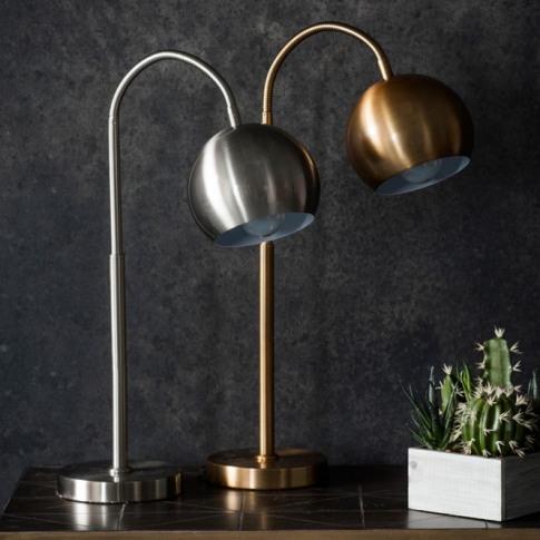 Dallas Brushed Nickel Table Lamp