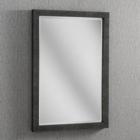 Dark Concrete Rectangular Wall Mirror