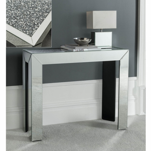 Diamond Surface Mirrored Console Table