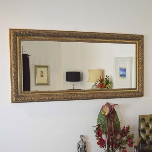 Full Length Gold Antique French Style Mirror