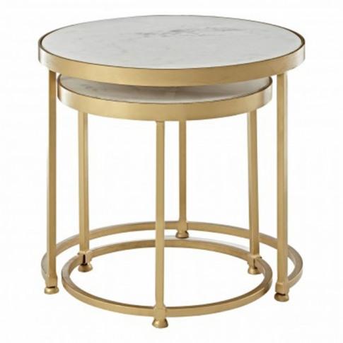 Gold Nirav Nesting Tables