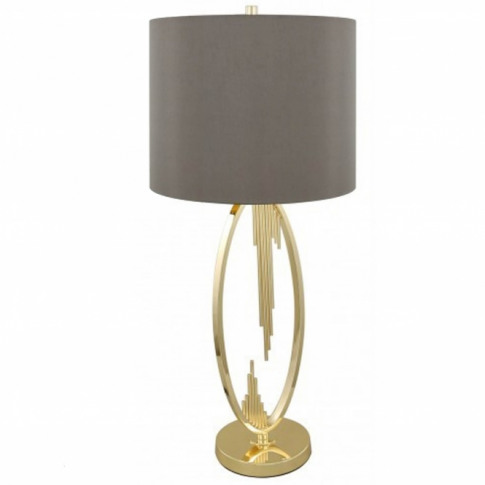 Gold Oval Abstract Table Lamp