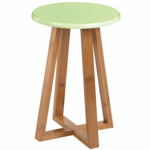 Green Viborg Round Stool