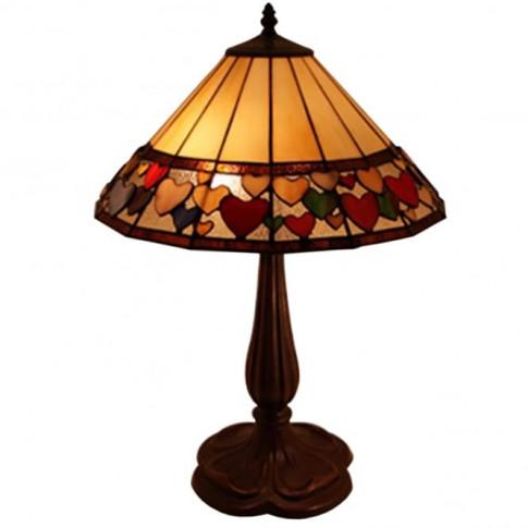 Large Hearts Tiffany Table Lamp