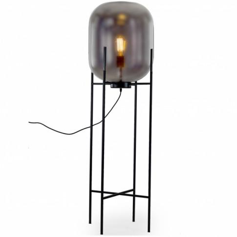 Large Smoked Glass Edison Floor Lamp