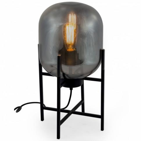 Large Smoked Glass Edison Table Lamp