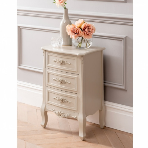 Light Olive Green Antique French Style Bedside Table