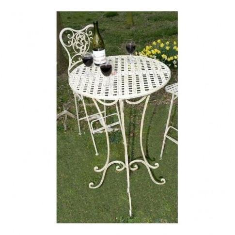 Metal Bar Garden Table