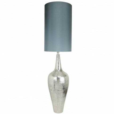 Nickel Elongated Bottle Table Lamp