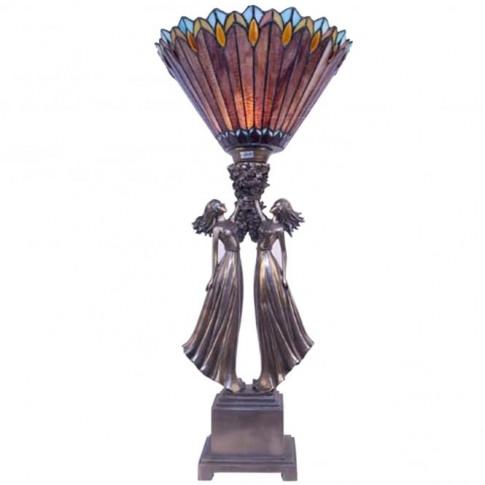 Polystone Sisters Tiffany Shade Table Lamp
