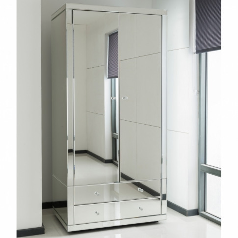 Romano Crystal Mirrored Wardrobe