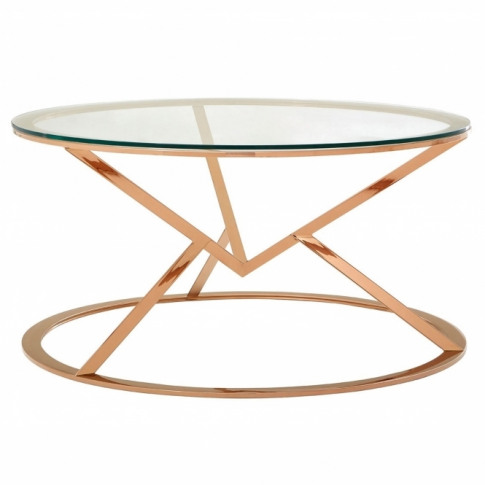 Rose Gold Allure Round Coffee Table