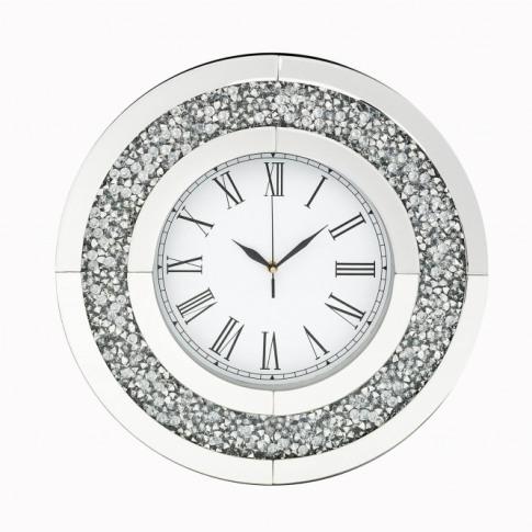Round Mocka Diamond Crush Clock