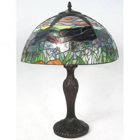 Scenic Tiffany Umbrella Table Lamp