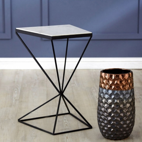Shalimar Trapezoid Side Table