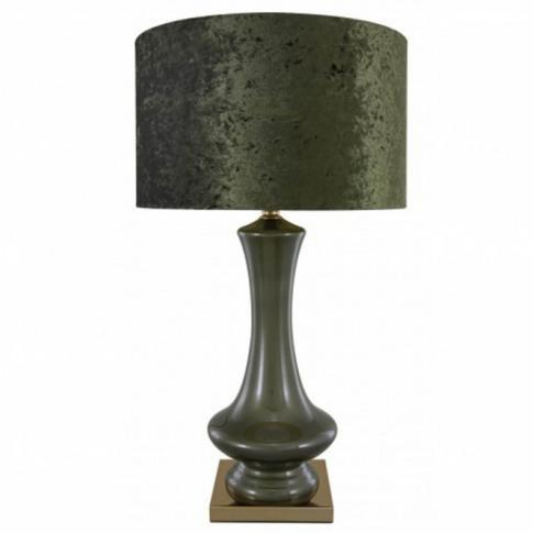 Silver Chrome Glass Decorative Table Lamp