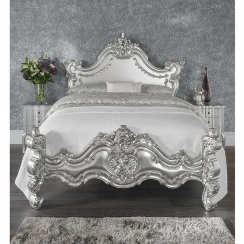 Silver Estelle Antique French Style Bed