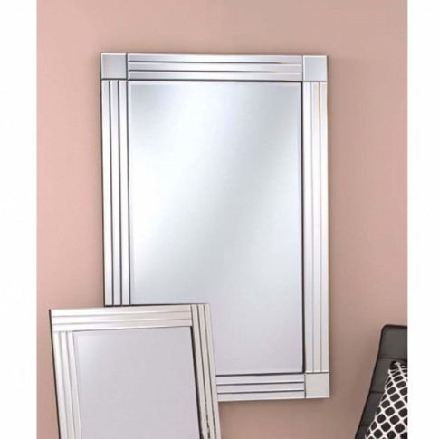 Silver Venetian Square Cornered Wall Mirror