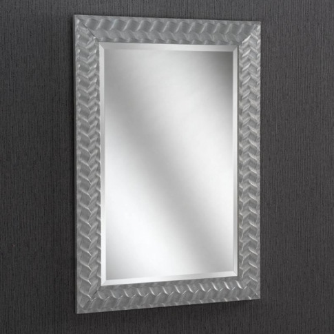 Silver Weave Rectangular Wall Mirror