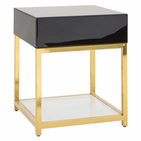 Townhouse Tempered Glass Side Table