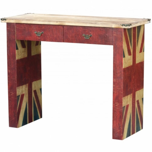 Union Jack Shabby Chic Console Table