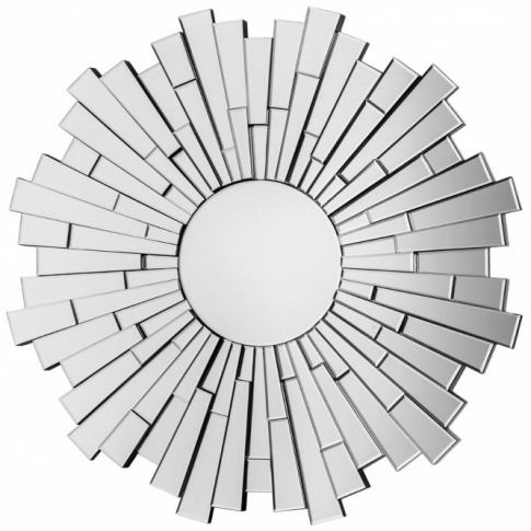 Venetian Glitzy Round Wall Mirror