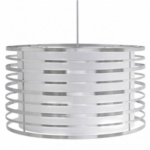 White & Chrome Metal Lamp Shade