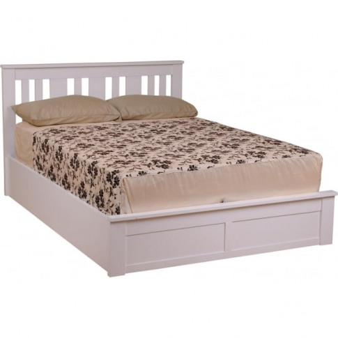White Coliseum Wooden Ottoman Bed