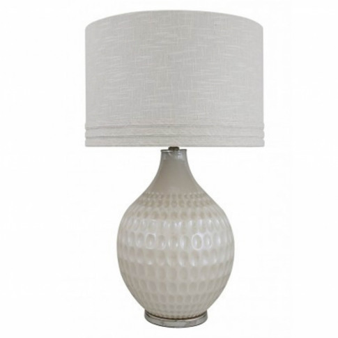 White Pearl Glass Dimple Table Lamp
