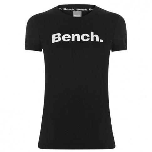 Bench Miller Print T Shirt Ladies - Black 001