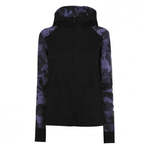 Bench Mina Zip Through Hoodie Ladies - Black 001
