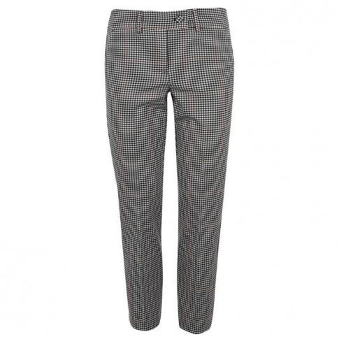 Marella Check Trousers - 001 Ruggine