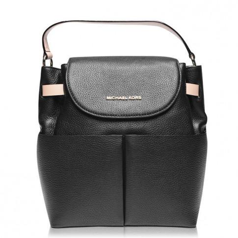 Michael Michael Kors Bed Pebbled Backpack - Black 001
