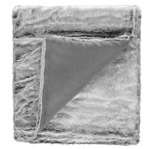 Linea Linea Faux Fur Throw - Grey