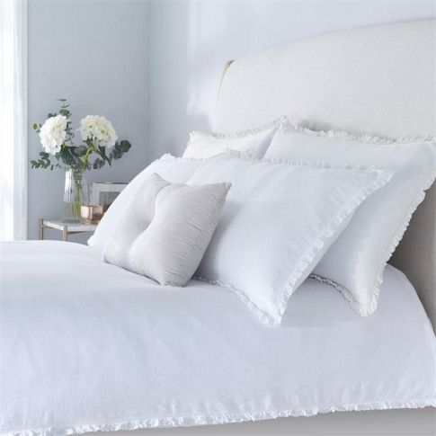 Hotel Collection Ella Duvet Cover - White