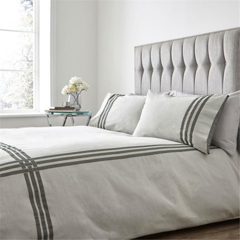 Hotel Collection Langham Duvet Cover - Grey