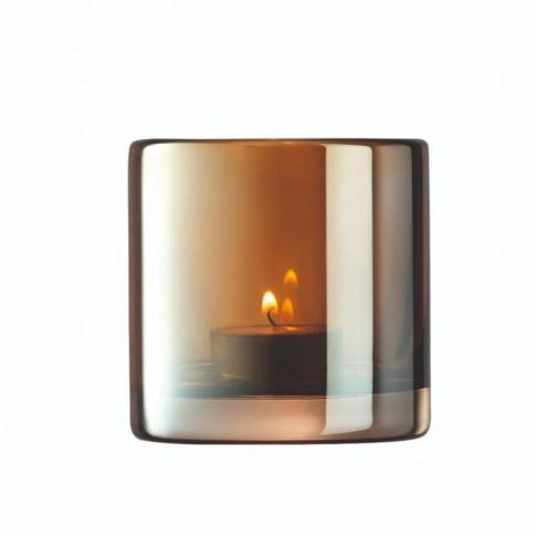 Lsa Epoque Tealight Holder - Amber/Lustre