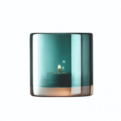 Lsa Epoque Tealight Holder - Peacock/Lustre