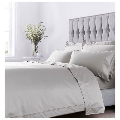 Hotel Collection Hotel 1000tc Egyptian Cotton Fitted Sheet - Light Grey