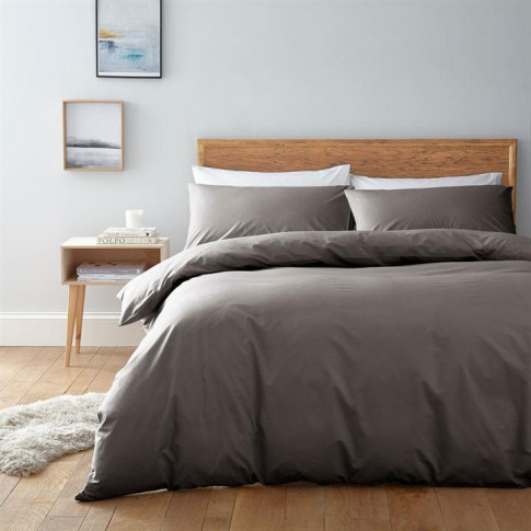 Linea Egyptian 200 Thread Count Duvet Cover - Pewter