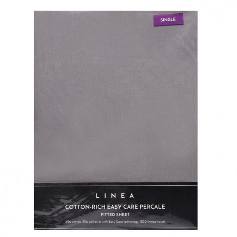 Linea Cotton Rich Fitted Sheet - Grey