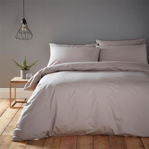 Linea Cotton Rich Fitted Sheet - Mink