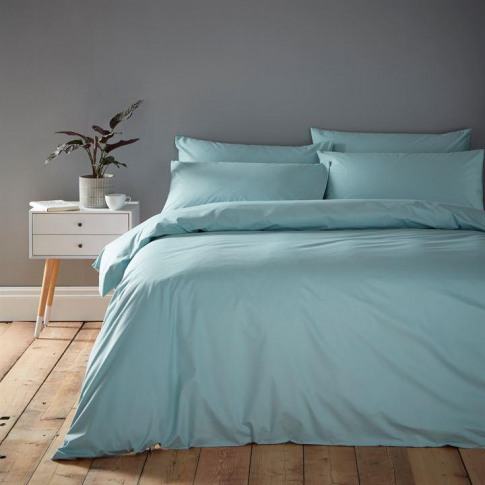 Linea Cotton Rich Fitted Sheet - Duck Egg