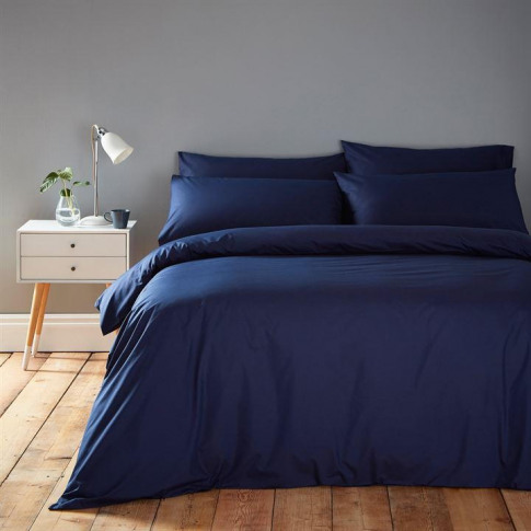 Linea Cotton Rich Fitted Sheet - Navy