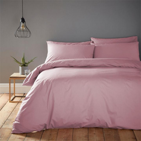 Linea Cotton Rich Fitted Sheet - Mauve