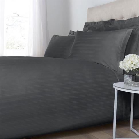 Hotel Collection Woven Stripe Duvet Cover Set - Slate